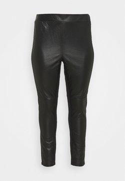 JUNAROSE - by VERO MODA - JRCLARA - Pantalon en cuir - black