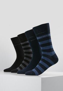 TOM TAILOR - SOCKS STRIPES 4 PACK - Socken - blau/schwarz