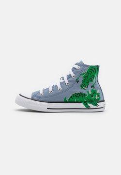 Converse - CHUCK TAYLOR ALL STAR DINO DAZE UNISEX - Zapatillas altas - blue slate/midnight navy/green