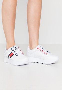 Tommy Jeans - HIGH CLEATED  - Zapatillas - white