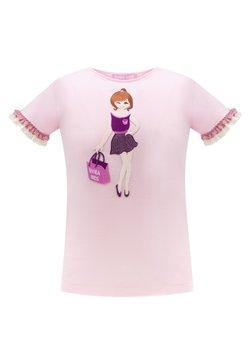 Evika Kids - WITH LACE - T-shirt print - pink