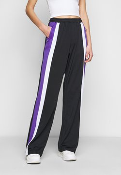 Fila Tall - BECCA TRACK PANTS OVERLENGTH - Jogginghose - black/ultra violet/bright white