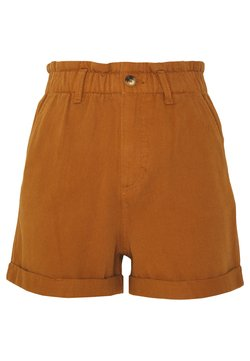 TOM TAILOR DENIM - CONSTRUCTED TWILL - Shorts - mango brown