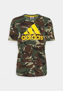 adidas Performance - CAMO - Camiseta estampada - green oxide/semi solar gold