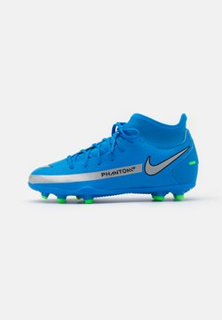Nike Performance - JR PHANTOM GT CLUB DF MG UNISEX - Chaussures de foot à crampons - photo blue/metallic silver/rage green
