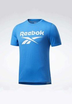 Reebok - WORKOUT READY SUPREMIUM GRAPHIC TEE - T-Shirt print - blue