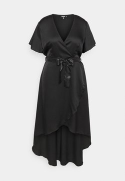 Missguided Plus - WRAP MAXI DRESS - Maxiklänning - black