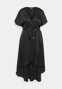 Missguided Plus - WRAP MAXI DRESS - Maxikjole - black