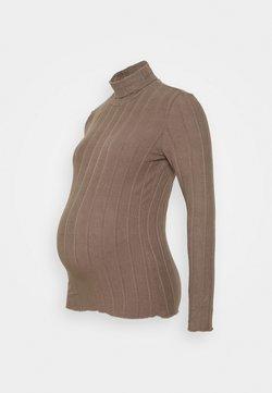 Pieces Maternity - PCMSAOREM ROLL NECK - Jersey de punto - taupe