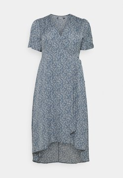 Missguided Plus - HIGH LOW DRESS - Maxikjole - blue