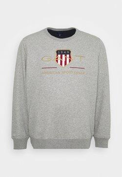 GANT - PLUS ARCHIVE SHIELD C NECK - Sweatshirt - grey melange