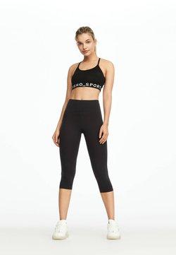 OYSHO - HIGH COMPRESSION - Pantalon 3/4 de sport - black