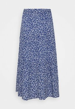 Monki - JUNE SKIRT - Maxi skirt - blue