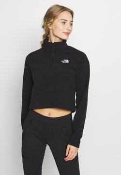 The North Face - GLACIER CROPPED ZIP - Fleecepullover - black