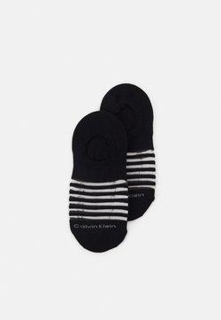 Calvin Klein Underwear - WOMENS SHEER STRIPE LINER LUNA 2 PACK - Füßlinge - black