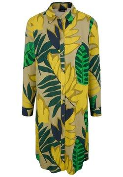 MIAMODA - Blusenkleid - grün,gelb