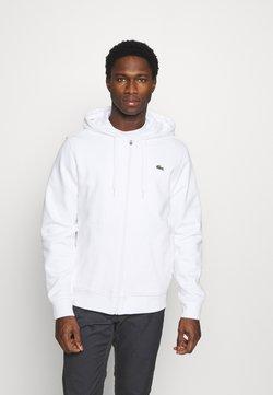 Lacoste - veste en sweat zippée - blanc