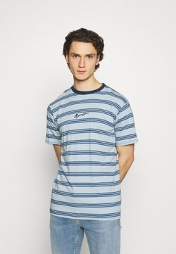Mennace - CLASSIC HORIZONTAL STRIPE UNISEX - T-Shirt print - light blue