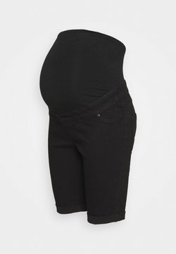New Look Maternity - LAUREN KNEE - Shorts vaqueros - black