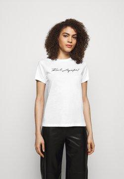 KARL LAGERFELD - SIGNATURE - T-Shirt print - white