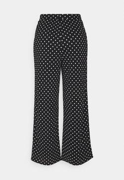 ONLY Petite - ONLPELLA PANTS - Trousers - black/cloud dancer