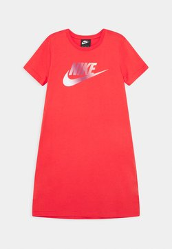 Nike Sportswear - DRESS FUTURA - Jerseykleid - track red/washed coral