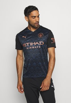 Puma - MANCHESTER CITY AWAY SHIRT REPLICA - Klubtrøjer - black/dark denim