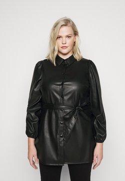 Vero Moda Curve - VMKAKCA LS LONG SHIRT CURVE - Freizeitkleid - black
