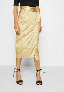 Never Fully Dressed - JASPRE DITSY PRINT SKIRT - Wrap skirt - gold