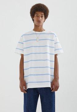 PULL&BEAR - T-Shirt print - light blue