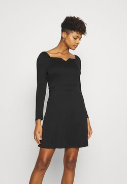 Vila - VITINNY SWEETHEART NECK DRESS - Shift dress - black