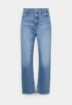 GANT - CAMIE CROPPED RAW HEM - Jeans relaxed fit - semi light blue broken in