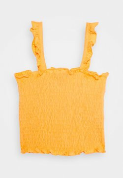 New Look 915 Generation - SHIRRED FRILL - Toppi - dark yellow
