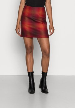Tommy Hilfiger - SHADOW CHECK SKIRT - Minirock - big shadow red / primary red