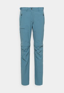 Vaude - WOMENS FARLEY STRETCH ZIP PANTS - Kangashousut - blue gray