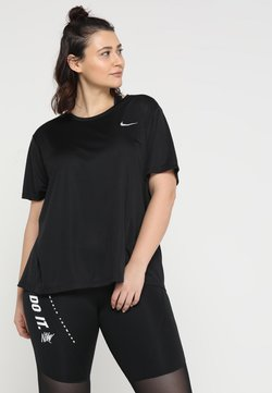 Nike Performance - MILER  - T-Shirt print - black/reflective silv