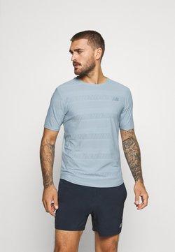 New Balance - Q SPEED SHORT SLEEVE - T-Shirt print - light slate