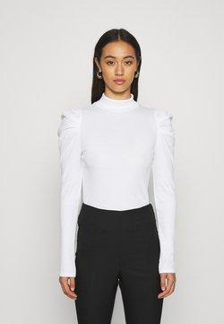 Monki - RONJA - T-shirt à manches longues - white light solid