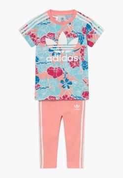 adidas Originals - TEE DRESS SET - Leggings - pink