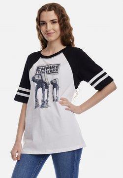 Nastrovje Potsdam - STAR WARS EMPIRE STRIKES  - T-Shirt print - weiss/schwarz