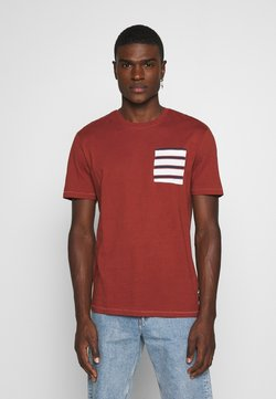 Only & Sons - ONSMELTIN LIFE POCKET TEE - Print T-shirt - henna