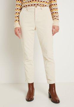 TOM TAILOR DENIM - CIGARETTE CORDUROY PANTS - Pantalon classique - soft creme beige