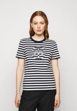 Tory Burch - STRIPED LOGO  - T-Shirt print - navy