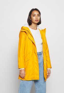 ONLY Petite - ONLSALLY RAINCOAT - Parka - golden yellow/white