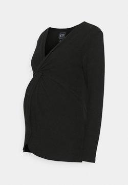GAP Maternity - TWIST LAYERING - Jersey de punto - true black