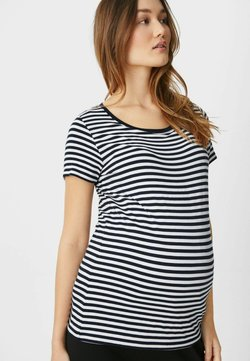 C&A - T-Shirt print - dark blue / white