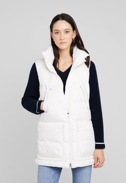 Marc O'Polo - LONG VEST FILLED WITH REAL - Weste - soft white