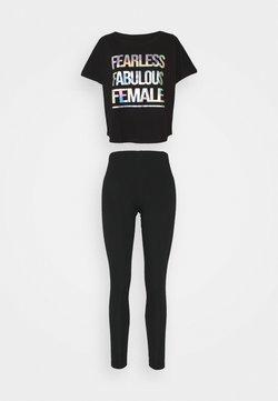 Ann Summers - FEARLESS FABULOUS FEMALE SET - Pigiama - black