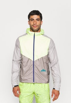 Nike Performance - TRAIL WINDRUNNER  - Laufjacke - lemon twist/moon fossil/college grey/bright spruce