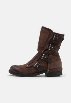 A.S.98 - SHIELD - Cowboy/Biker boots - fondente/testa di moro